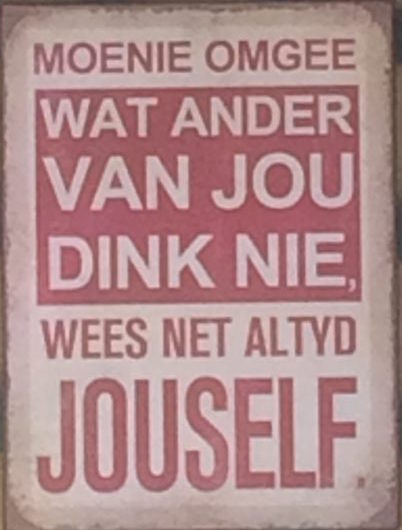 Afrikaans blijft leuk :-)