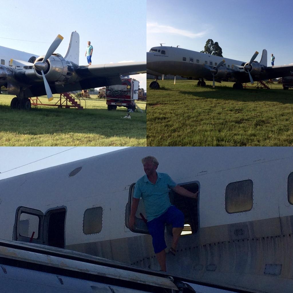 Veilig onder de vleugels van een DC6
